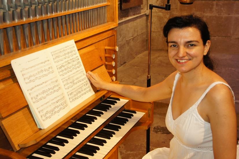 orgue de Verdú i Olga Miracle.